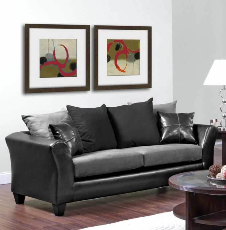 Gamma Sofa - Jefferson Black/Sierra Graphite