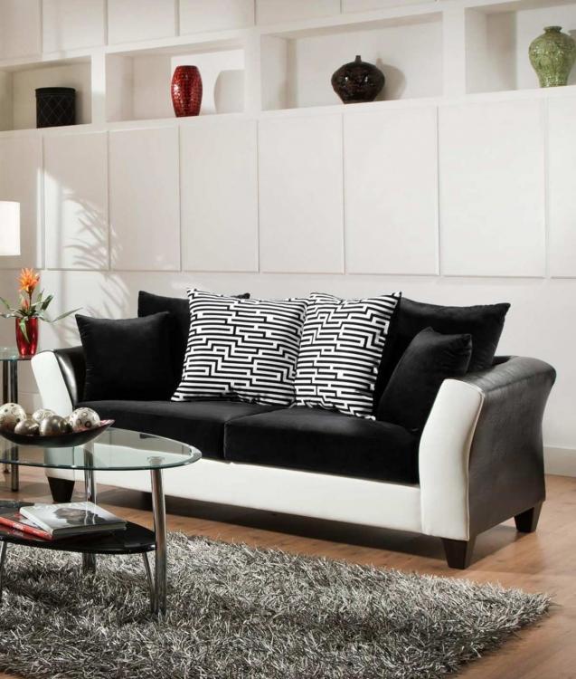 Tau Sofa - Jefferson Black/Avanti White