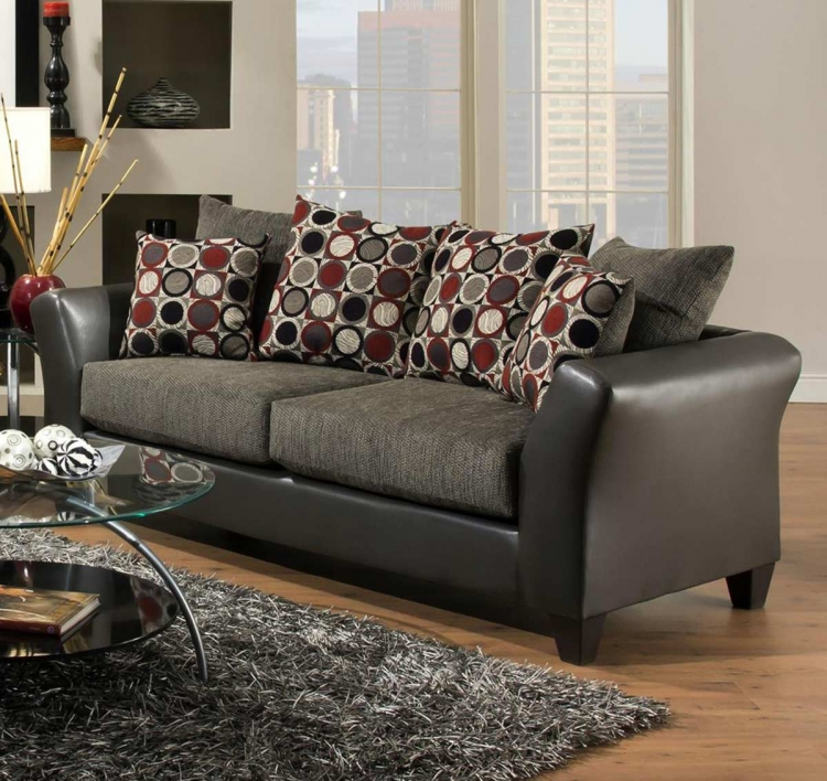 Patch Sofa Set - Graphite