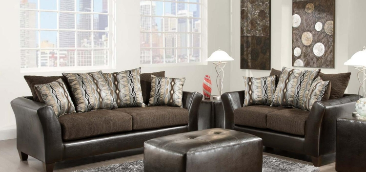 Eta Sofa Set - Jefferson Chocolate/Rip Sable
