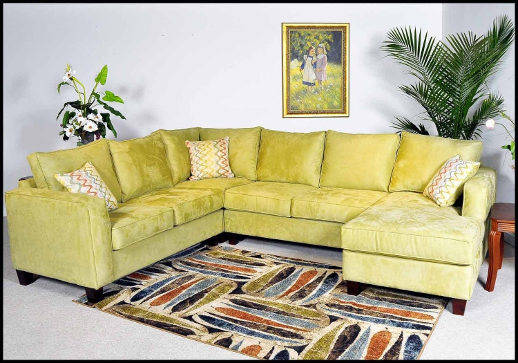Angie 4 Piece Sectional Sofa - Mission Apple