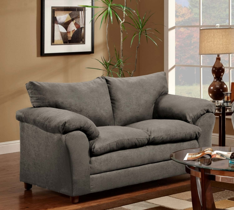 Gail Loveseat - Flatsuede Graphite