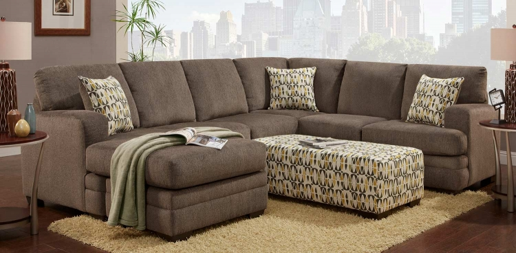 Northborough Sectional Sofa Set - Hillel Pewter