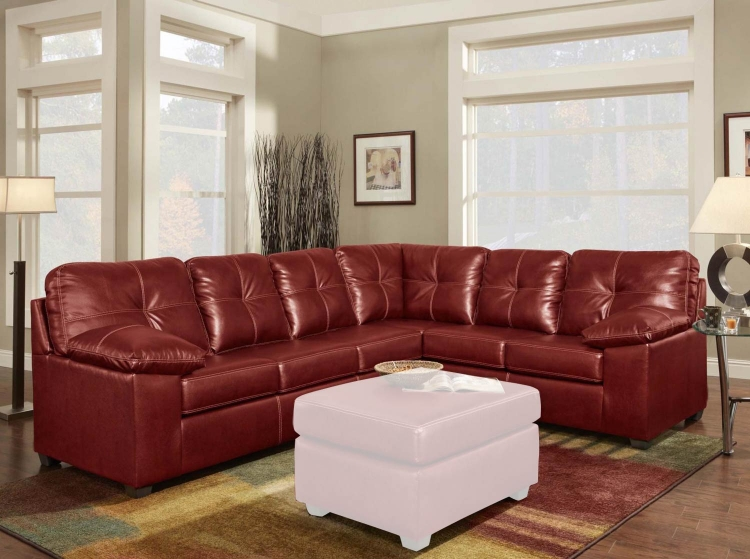 Tamera 2 Piece Sectional Sofa - Ty Red