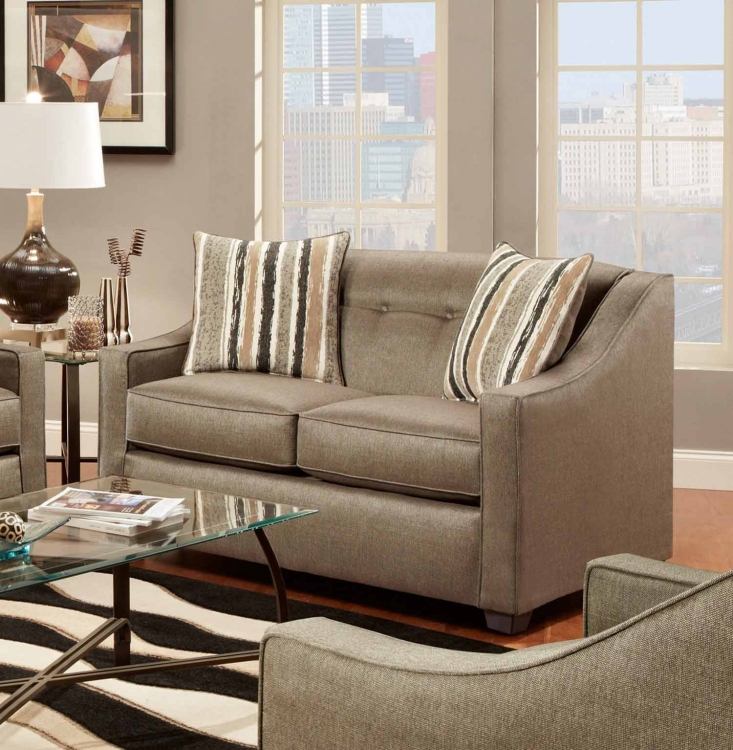 Brittany Loveseat - Stoked Pewter