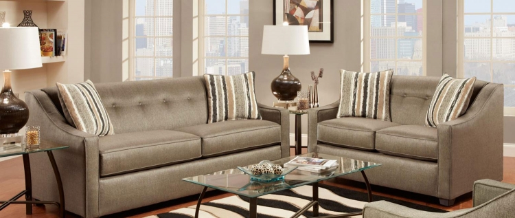 Brittany Sofa Set - Stoked Pewter