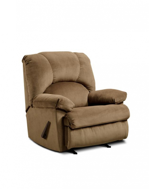 Charles Handle Rocker Recliner - Montana Latte