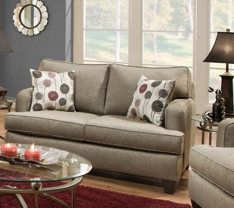 Dandelion Loveseat - Luminous Pewter
