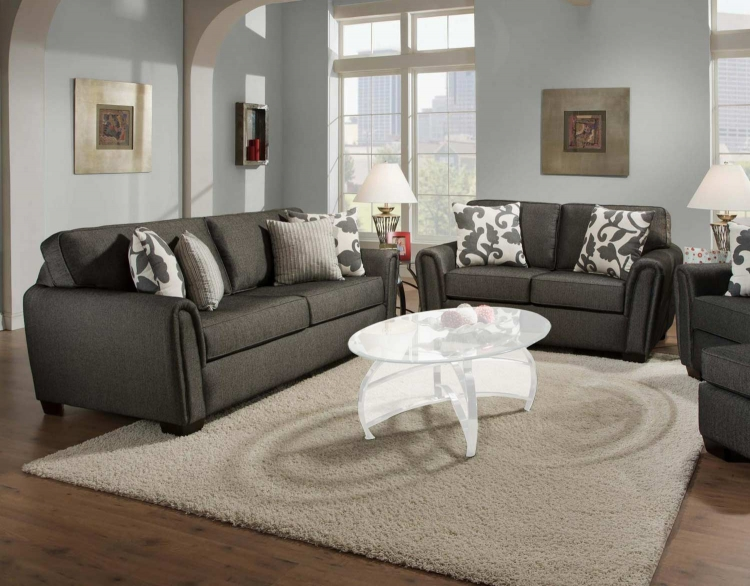 Veronica Sofa Set - Talbot Onyx