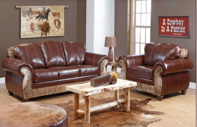 Saddle Me Up Sofa Set - Top Grain Leather - Chelsea