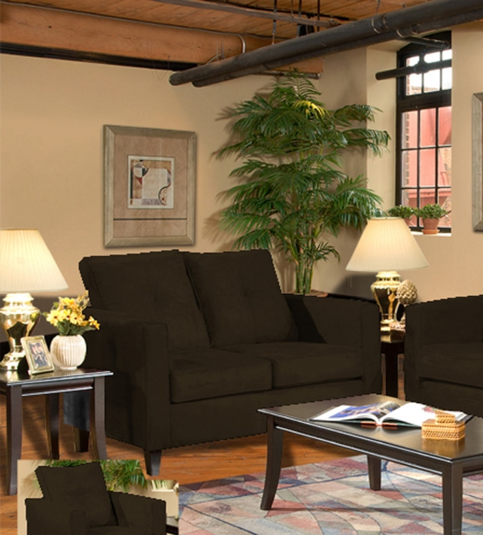 Heather Loveseat - Bulldozer Java