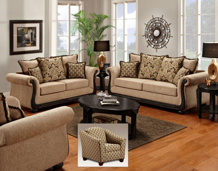 Lily Sofa Set - Delray Taupe - Chelsea