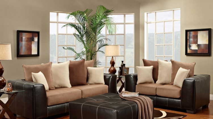 Landon Sofa Set - Sea Rider Saddle/LaredoMocha