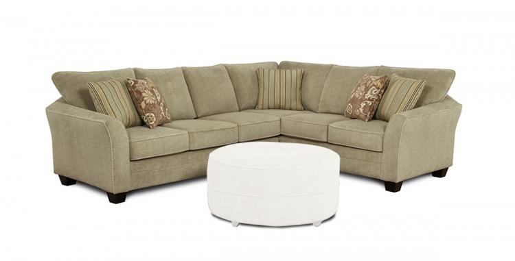 Dallon 2 pcs. Sectional Sofa - Beige