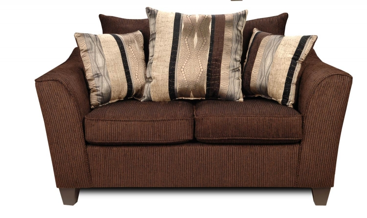 Lizzy Loveseat - Romance Brown/Kendu Onyx