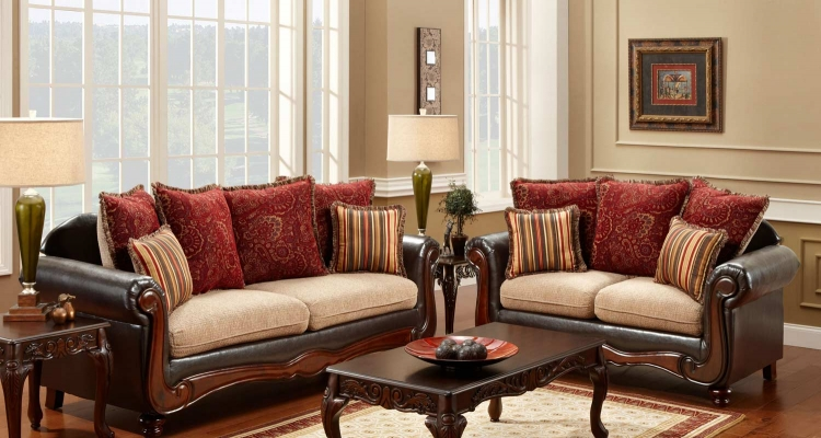 Shirley Sofa Set - Del Ray Taupe/Milo