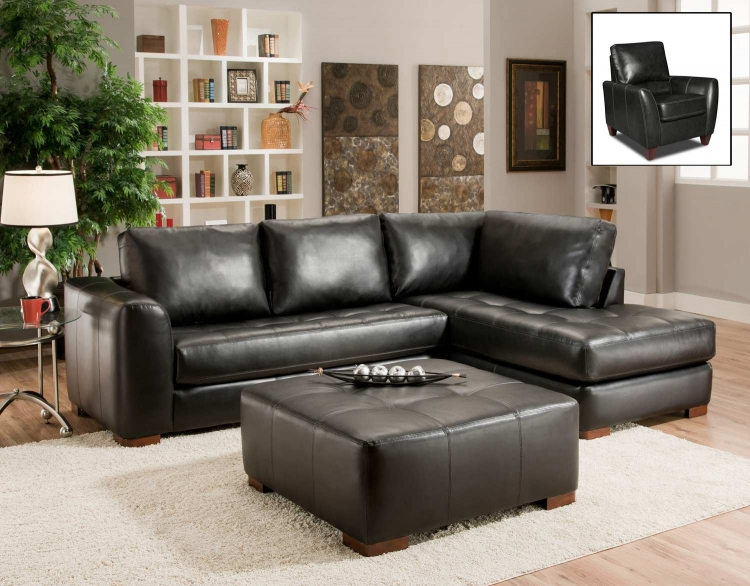 Madison Sectional Sofa Set - Capri Black
