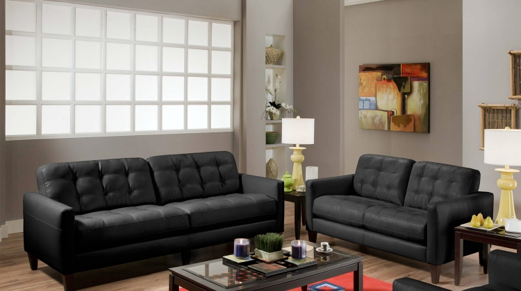 Stafford Sofa Set - Milano Black