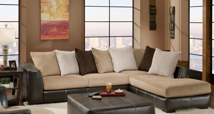 Amherst 2 Piece Sectional Sofa - San Marino Mocha/Martin Coffee