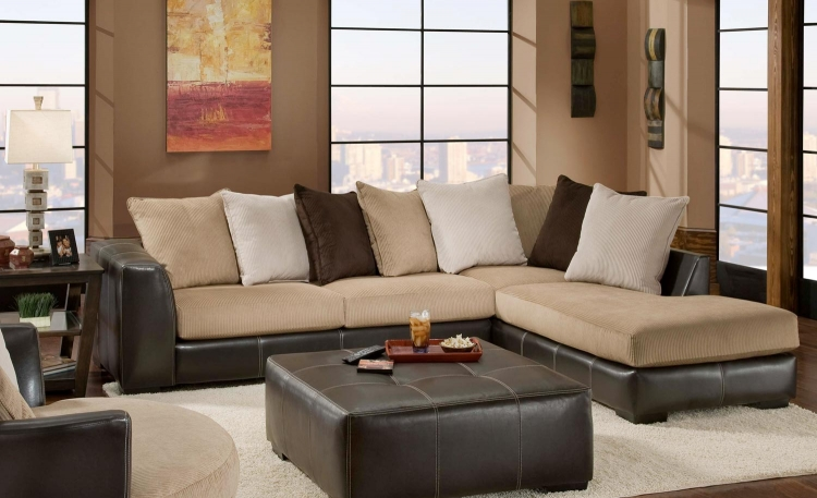 Amherst Sectional Sofa Set - San Marino Mocha/Martin Coffee