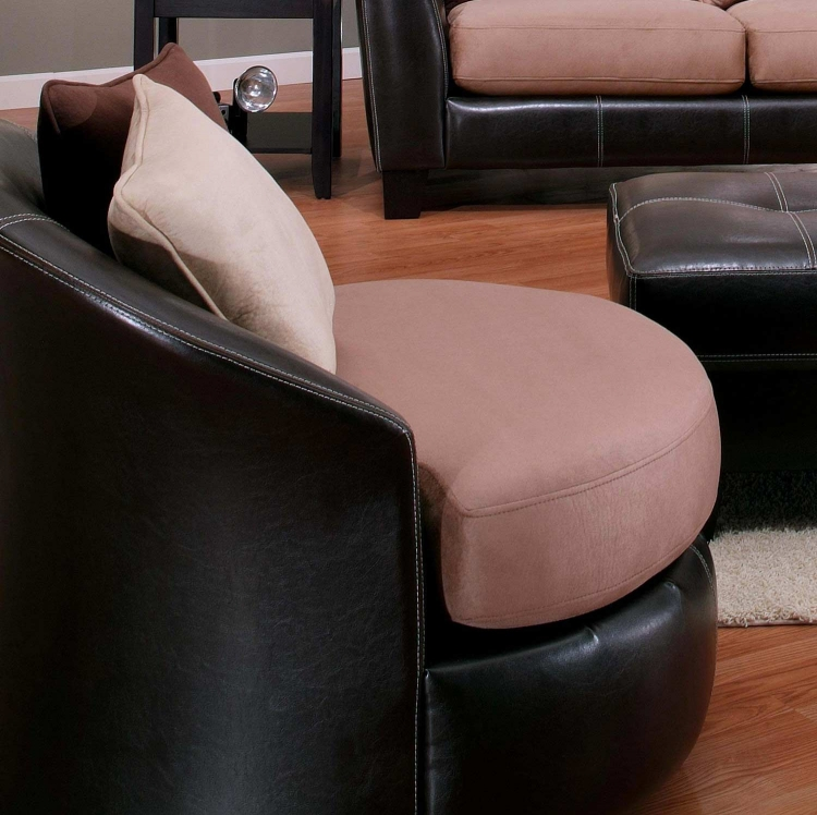 Paige Swivel Chair - Oxford Mocha