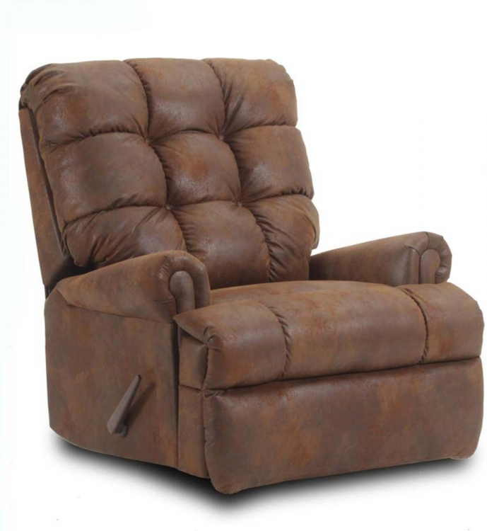 Avery Handle Recliner - Pinto Tobacco Microfiber - Chelsea