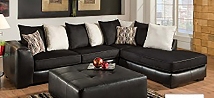 Grant 2 Piece Sectional Sofa - San Marino Ebony