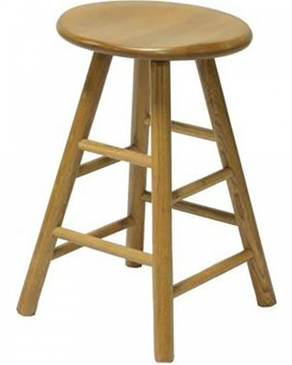 Gene 24-inch Swivel Saddle Barstool - Harvest Oak