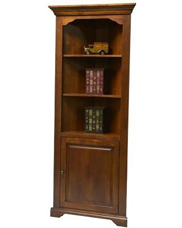 Hartley Corner Bookcase - Medium Oak