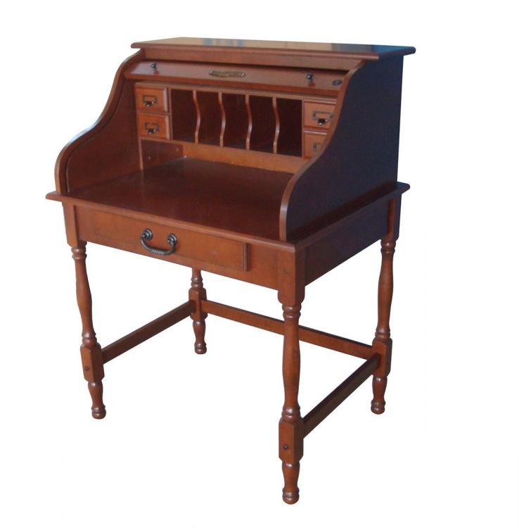 Lonie 32-inch Mini Roll Top Desk - Cherry