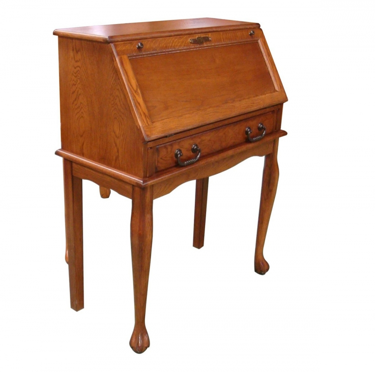 Nolan Secretary Drop Leaf Desk - Burnished Walnut