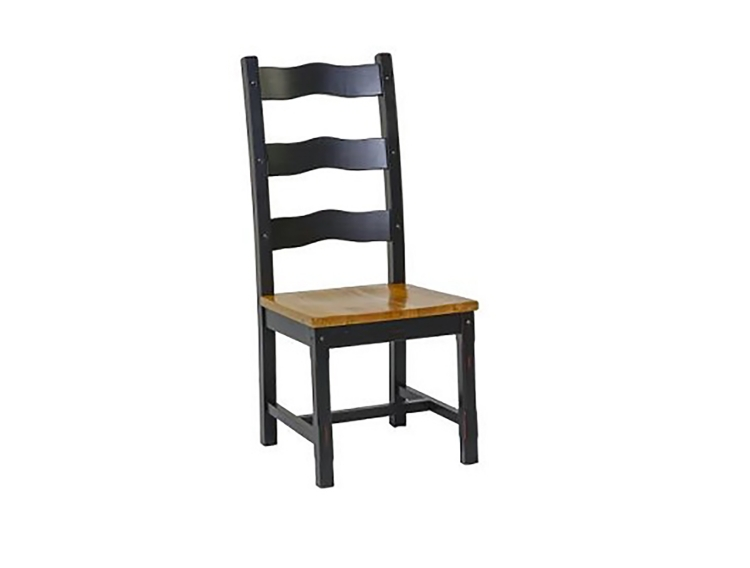 Tate Ladder Back Side Chair - Two Tone