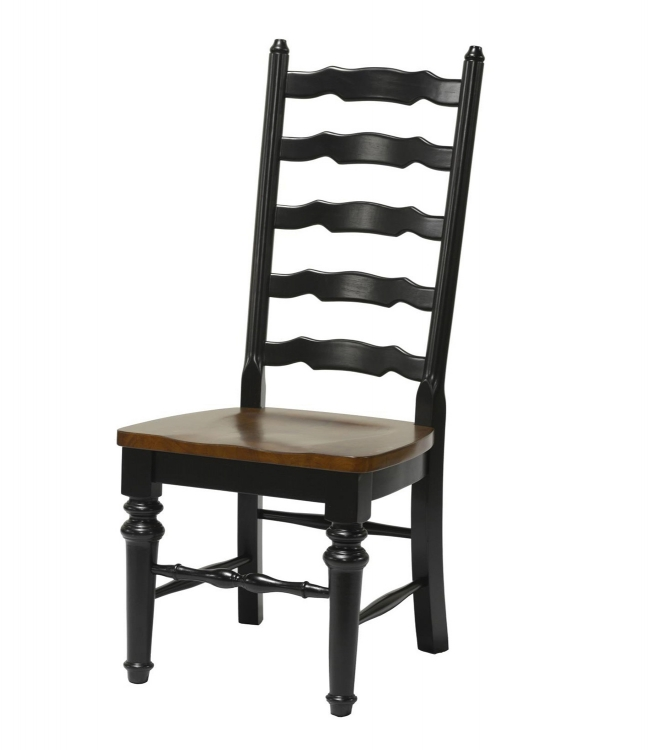 Beverly Side Chair - Black/Cherry