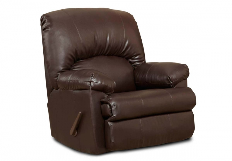 Charles Rocker Recliner - Brown Blended Leather - Chelsea