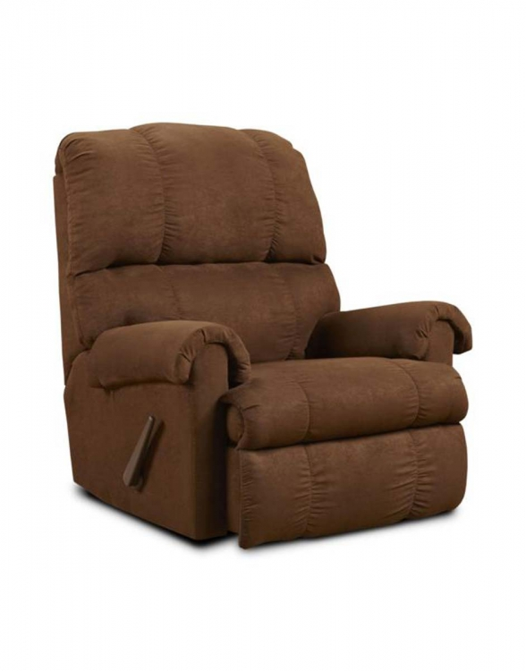 Grace Rocker Recliner - Flatsuede Chocolate - Chelsea