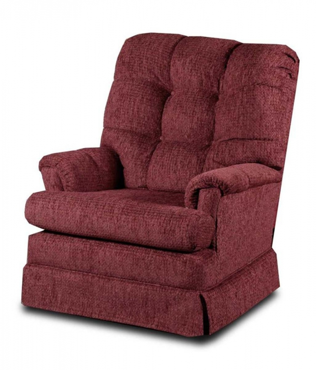 Swivel Rocker - Del Ray Burgundy - Chelsea