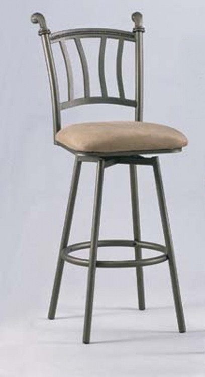 0227 30 Inch Swivel Bar Height Stool - Chintaly Imports