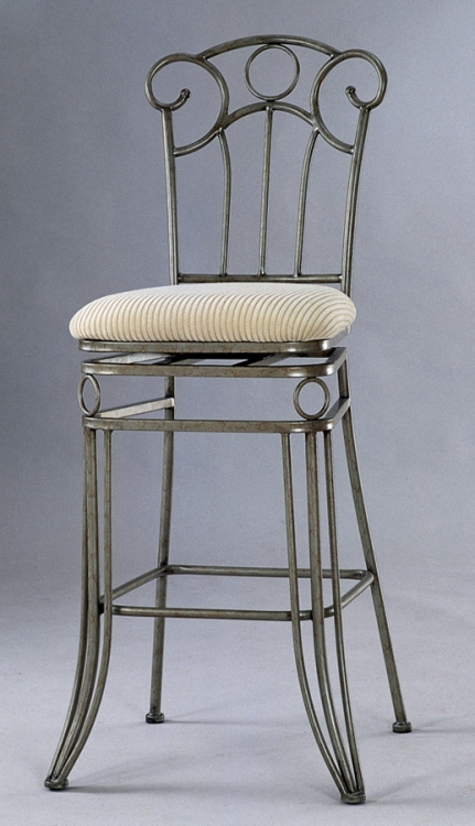 0255 26 Inch Swivel Counter Height Stool - Chintaly Imports