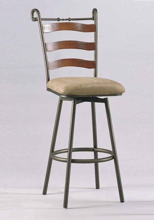 0267 26 Inch Swivel Counter Height Stool - Chintaly Imports