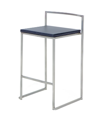 0506 Stackable Bar Stool - Black - Chintaly Imports