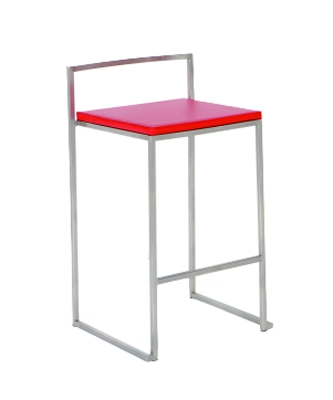 0506 Stackable Bar Stool - Red - Chintaly Imports