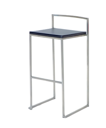 0506 Stackable Counter Stool - Black