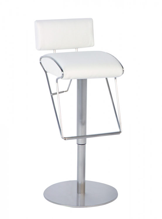 0561 Adjustable Height Swivel - White - Chintaly Imports