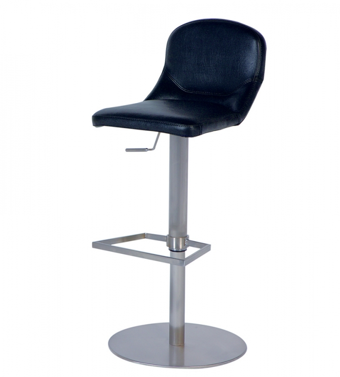 0567 Adjustable Height Swivel Stool - Black