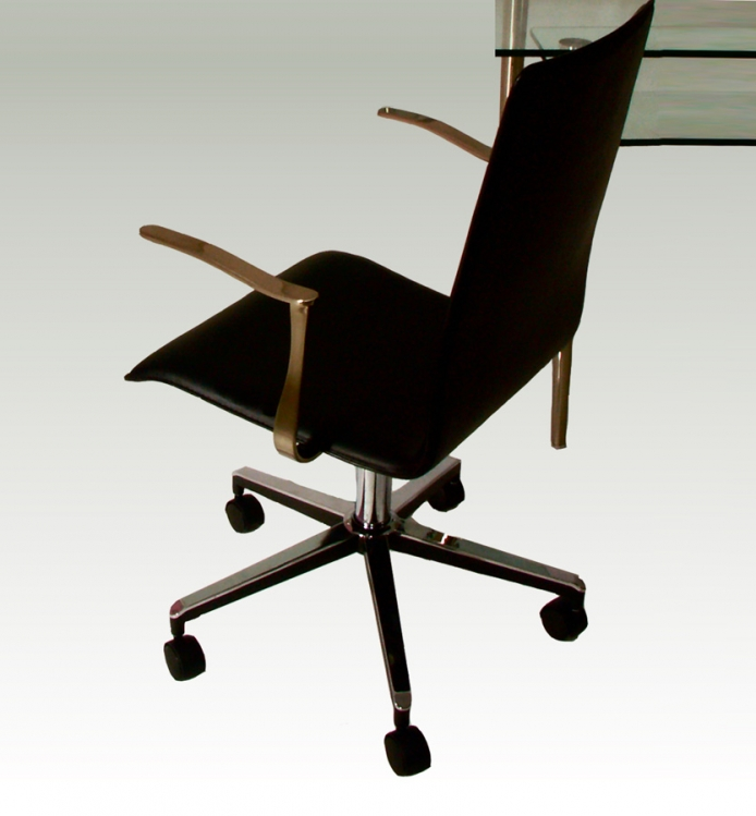 Swivel Arm Chair on Casters Adjustable Height - Chintaly Imports