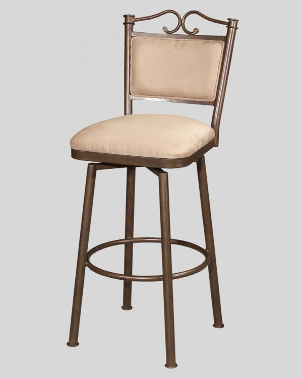 0707 30 Inch Swivel Memory Return Bar Height Stool - Chintaly Imports