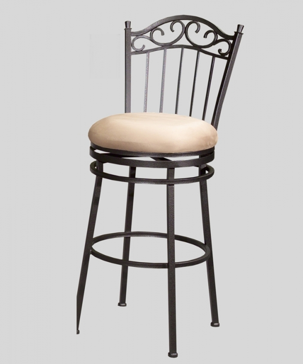 0710 30 Inch Swivel Memory Return Bar Height Stool