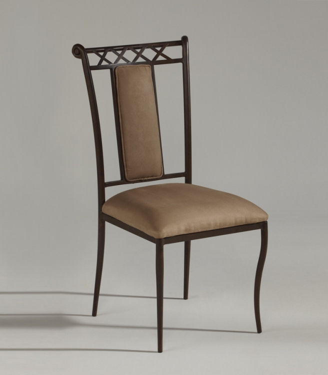 0724 Upholstered Back Side Chair - Chintaly Imports