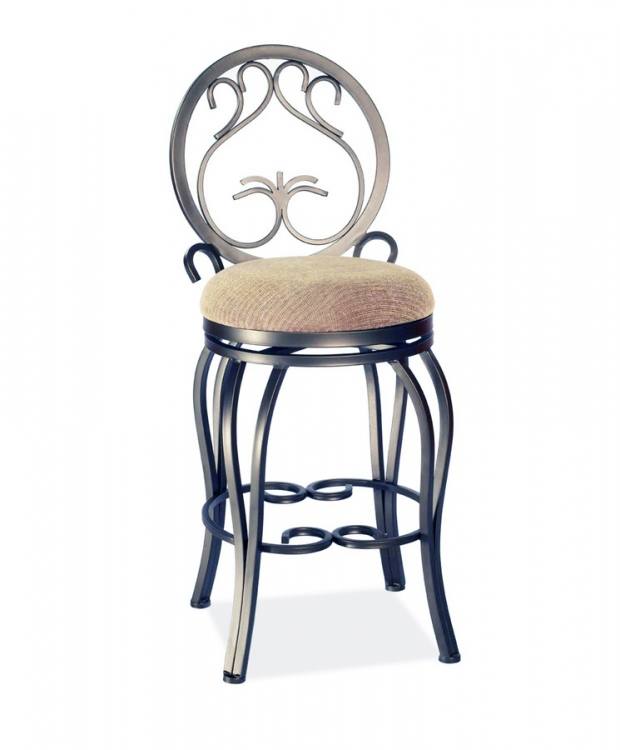 0745 30 Inch Swivel Memory Return Bar Height Stool - Chintaly Imports