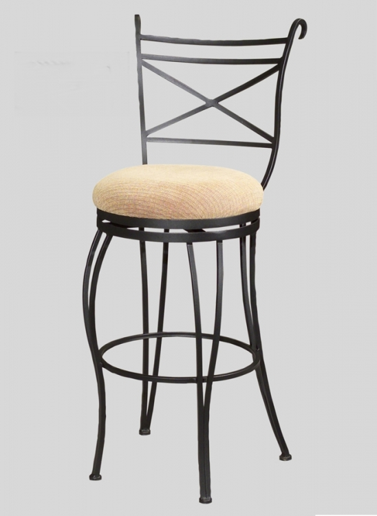 0776 30 Inch Swivel Memory Return Bar Height Stool - Chintaly Imports